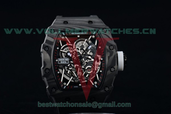 1:1 Richard Mille RM 35-02 RAFAEL NADA Miyota 9015 Skeleton Dial with Black PVD Case RM 35-02